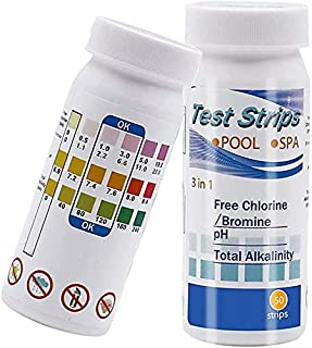 SINCHER Pool and Spa Test Strips, 3-in-1 Swimming Pool Water Testing, Test PH, Chlorine, Bromine, Hardness and More, Water...
