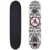Cal 7 Complete Skateboard, Popsicle Double Kicktail Maple Deck, Skate Styles in Graphic Designs (7.5' No Bikes)