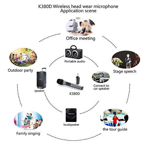 G-wukeer USB-Aufladung K380D Drahtloses Mikrofon, Tragbares Mikrofon Rede Singe Mikrofon, Langlebig Und Energieeffizient Batteriebetrieben innate