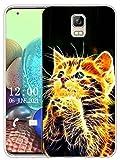 Sunrive Kompatibel mit UMI Rome/Rome X Hülle Silikon, Transparent Handyhülle Schutzhülle Etui Hülle (X Katze)+Gratis Universal Eingabestift MEHRWEG