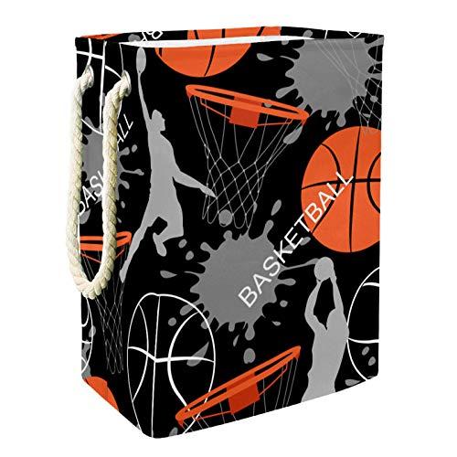 Cesto de la ropa Deportes Hombres Baloncesto Cesta De Almacenamiento Plegable Para Niños Para Sala De Juegos De Guardería 49x30x40.5 cm