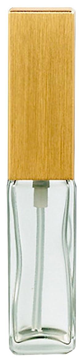贈り物保安ファシズム16491 メンズアトマイザー 角ビン クリア キャップ ヘアラインゴールド