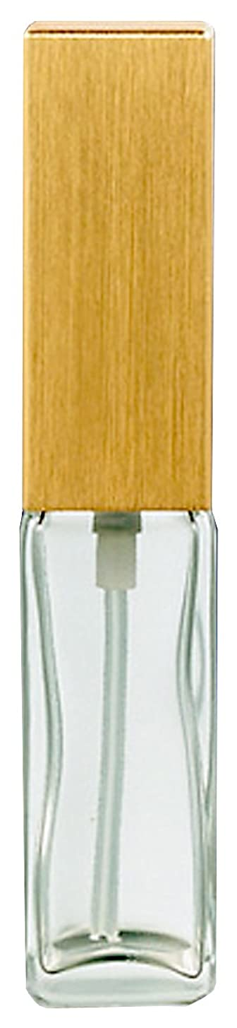 独立した銀河乳製品16491 メンズアトマイザー 角ビン クリア キャップ ヘアラインゴールド