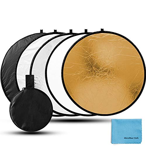 Fotover 60cm 5 in 1 Multi Disc Rounde Faltreflektor/Lichtreflektor mit Tragetasche Fotografie Studio