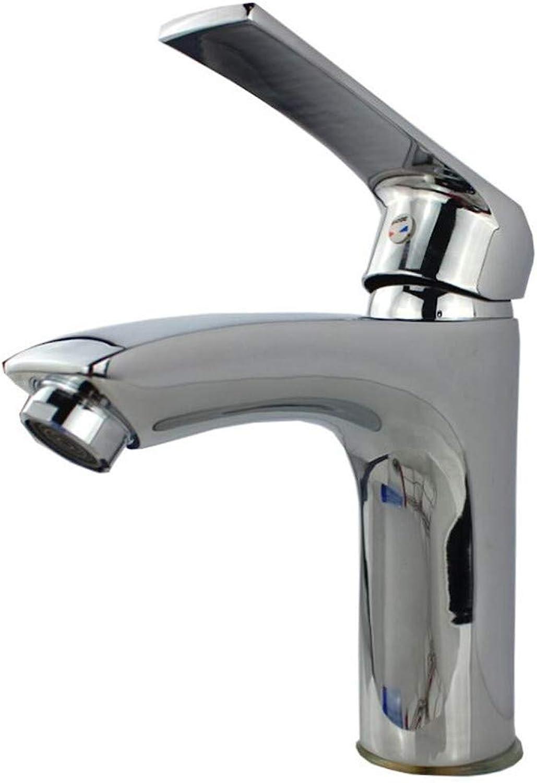 Faucet Mone Spout Basinhigh-Heel Copper Precision-Cast Basin Faucet Cold and Hot Water Faucet Faucet Basin Faucet Faucet