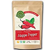 Eat Well Premium Foods - Aleppo Pepper Flakes 5 oz - 142 gr, Crushed Turkish Chili Pepper, Middle Eastern Red Pepper - Maras Chili Pepper, Product of Turkey, Halaby, Syrian Pepper, Pul Biber