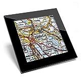 Posavasos de cristal Awesome – Zurich City Suiza mapa Europa de calidad brillante posavasos / protección de mesa para cualquier tipo de mesa # 46533