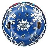 Kuyoly Trineo inflable de la nieve con la manija engrosada respetuosa del medio ambiente del frío del círculo del esquí del inflador de la válvula del tubo