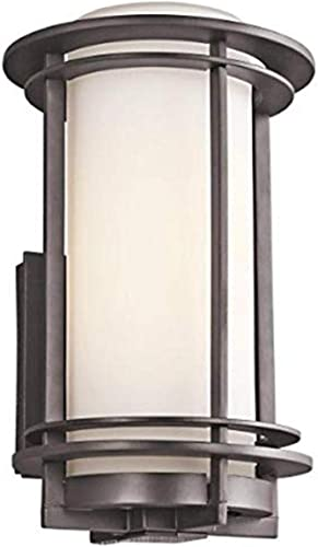 2021 Kichler 2021 49345AZ, Pacific Edge sale Aluminum Outdoor Wall Sconce Lighting, 100 Watts, Architectural Bronze,19.75-Inch outlet sale