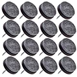 16pcs - Medium Espresso Color - Heavy Duty Nail On Felt Pads Slider Glide Pads for Chairs, Table, Stools, Drawer, Wardrobe - Hard Wood, Tile Floor Protector