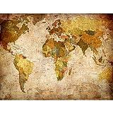 Papel Pintado Fotográfico Mapa del mundo 308 x 220 cm Tipo Fleece no-trenzado Salón Dormitorio Despacho Pasillo Decoración murales decoración de paredes moderna - 100% FABRICADO EN ALEMANIA - 9015010b