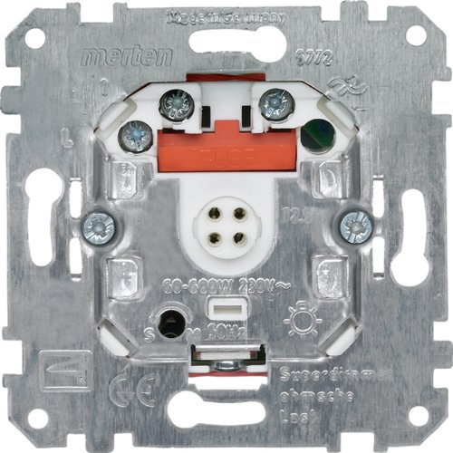 Merten 577299 Memory-Superdimmer - Conector para regulador de intensidad de lámparas (con sistema de memoria, 60-600 W, halógeno 500 W)