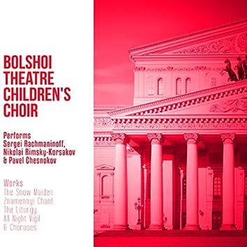 Bolshoi Theatre Children's Choir Performs Sergei Rachmaninoff, Nikolai Rimsky-Korsakov & Pavel Chesnokov