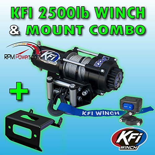 RPM 2500lb KFI Steel Winch Mount Combo - Compatible with Yamaha Compatible with Kodiak Grizzly 700 2016-2019