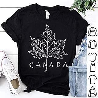 Womens Halloween T Shirt, Canada Maple Leaf Canada Day Artistic Shirt, Custom Print All Styles Of Short Sleeved T-Shirt, Long Sleeved Shirt, Hoodies, Tank Top