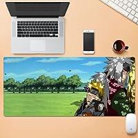 漫画のゲーム用マウスパッドは厚く長くなり、表面は滑らかで、耐摩耗性の縫い目はキーボードの滑り止めと防滴に使用されます-Naruto68||800x300