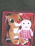 """Talking Singing Animated Rudolph the Red Nosed Reindeer 8"""" Plush Doll with Bonus 7"""" Plush Misfit Doll"""