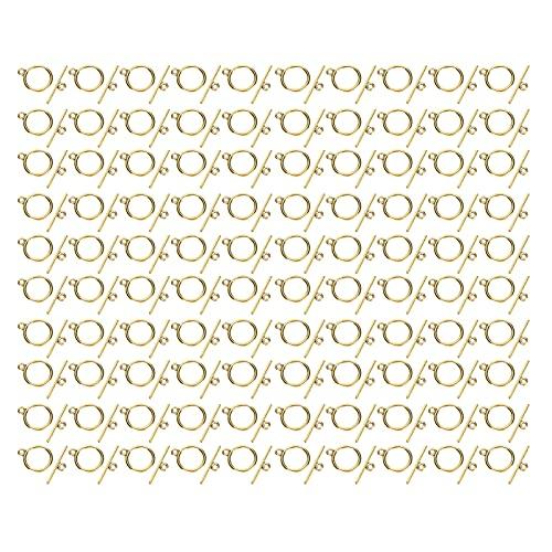 Cierres de palanca, acero inoxidable Conveniente resistente al desgaste Suministros para hacer joyas para collares para colgantes para aretes para manualidades para pulseras(Oro antiguo)