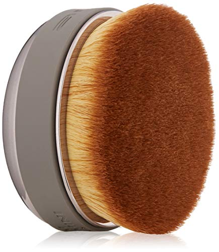 Artis Elite Smoke Palm Brush Mini - Oval Makeup Brush - Luxury Synthetic Makeup Brush - Ideal for Foundation, Highlight, Contour, Blush- Use with liquids, powders and creams - Creates Airbrush Finish