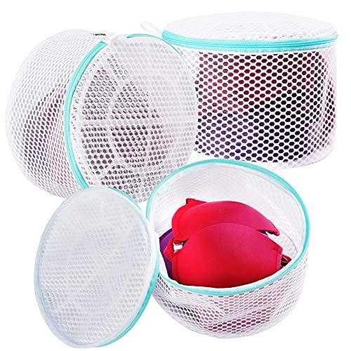 Plusmart Große Netz-Dessous-Beutel für Wäsche, BH-Waschbeutel für Waschmaschine/Waschmaschine, D bis E, 3 Stück, weiß