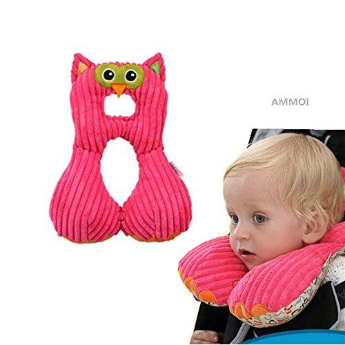Ammoi baby Nackenstützen Nackenhörnchen Kinder Schlafkissen/Nackenkissen Kindersitz-Zubehör für Auto/ Fahrrad/ Reise