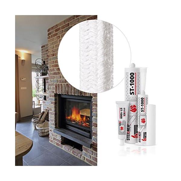 STEIGNER Adhesivo Térmico ST- 1000 40 ml Resistente al Calor para Cuerdas de Chimenea Alta Temperatura hasta 950°C…