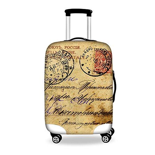 Ledback ラゲッジカバー 英国風 防塵 防水 洗える 伸縮素材 目立つ 旅行者 キャリーカバー おしゃれに保護 トランクカバー S/M/Lサイズ スーツケースカバー