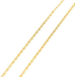 "ROMANTAE 2mm 18k Gold Necklaces for Women Gold Chain for Men Unisex Chain- Girlfriend Romantic Gifts for her Wear Alone or with Pendant Sizes 16""-34"""
