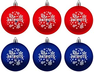 Boelter New England Patriots Home & Away Shatter Proof Ball Ornament Gift Set of 6