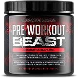 Pre Workout Beast (Sabor Frutas del Bosque) - Suplemento Potente pre-Entreno con Creatina, Cafeína, Beta-Alanina y Glutamina (Envase de 306 Gramos - 40 Porciones)