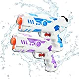 Tuptoel New Upgraded Water Guns - 2 Pack Compact Squirt Guns for Girls/Boys 300CC Portable Water Blasters Summer Toys Beach Sand Pool Toys Party Favor (Blue)