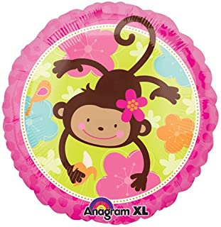 pink mod monkey balloons