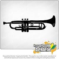 トランペット Trumpet 20cm x 6cm 15色 - ネオン+クロム! ステッカービニールオートバイ