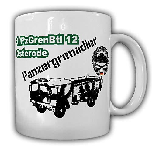 PzGrenBtl 12 Osterode 5 Tonner Panzergrenadierbataillon Kat1 Bund Bundeswehr Heer LKW - Tasse #19098