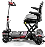 Enhance Mobility - The Transformer - Electric Folding Scooter - 4-Wheel - Red