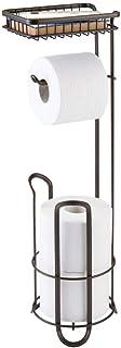 mDesign Distributeur papier toilette sans perçage – le porte papier wc pour la salle de bains – Valet wc pour rouleaux de ...