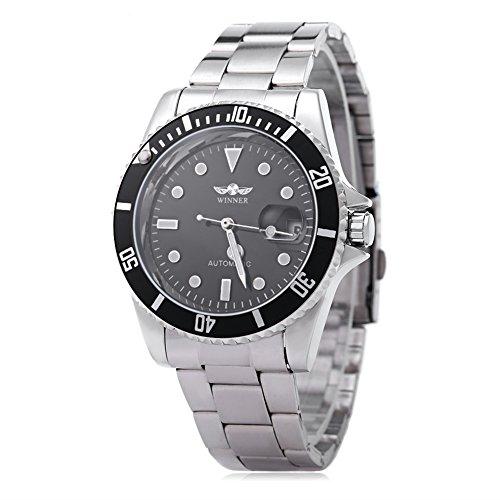 Reloj de pulsera para hombre, de la marca Winner, con función de fecha