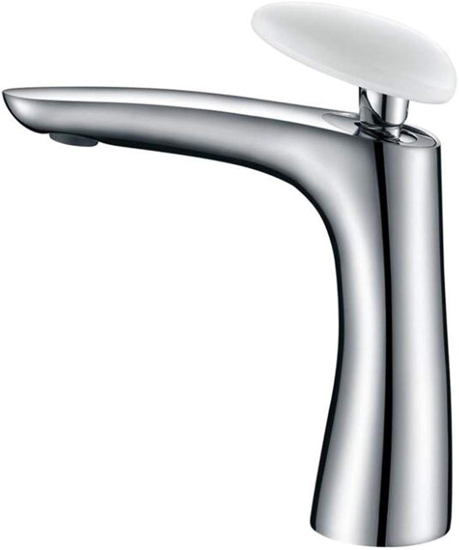 Bathroom Sink Basin Lever Mixer Tap Precision Copper Cold and Hot Faucet Carbon-Lead Ceramic Single Handle Faucet Basin Faucet