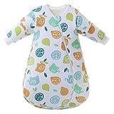 Saco de dormir para bebé mangas largas invierno 2.5-3.5Tog Saco de dormir de algodón 100% orgánico(L/tamaño del cuerpo 70-80cm)
