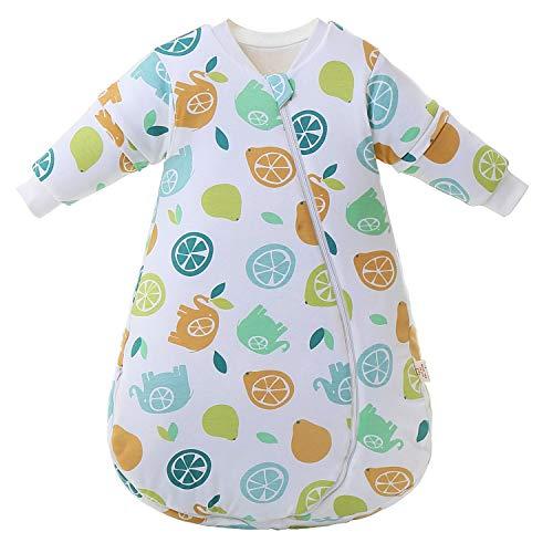 Saco de dormir para bebé mangas largas invierno 2.5-3.5Tog Saco de dormir de algodón 100{6521501893802f9547b053a0526098cf6124be43626f8aaabaadb51499efa693} orgánico(M/tamaño del cuerpo 60-70cm)
