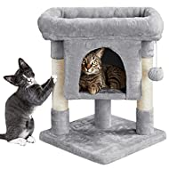 Yaheetech Cat Tower 2 Levels Cat Tree with Scratching Post Condo & Hanging Toy Kitten Activity Centr...