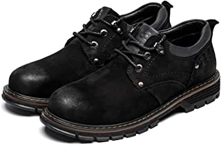 2019 Mens New Lace-up Flats Men's Fashion Comfortable Personality Oxford Casual Stitching Round Toe Work Shoes