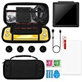 Carry Case for Nintendo Switch Lite - XVZ Portable Travel Accessories Kit with Switch Lite Case,Screen Protectors,charging cable,Storage case,4 Thumb Grips Caps for Switch Lite Games & Accessories Kit