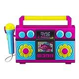 EKids Trolls World Tour Canta con micrófono, música integrada, Luces Intermitentes, micrófono de Trabajo Real para máquina de Karaoke Infantil, Conecta Reproductor MP3 Aux en Dispositivo de Audio
