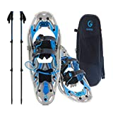 Snowshoes kit Adventure Adult (Azure, 21 in, Optimized Weight up to 150lb)
