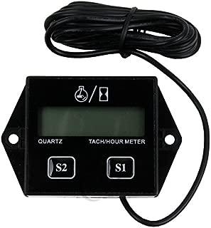 TCMT Universal Digital Tach Hour Meter Tachometer Gauge Dirt bike ATV UTV Gas Engines