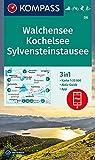 KOMPASS Wanderkarte Walchensee, Kochelsee, Sylvensteinstausee: 3in1 Wanderkarte 1:25000 mit Aktiv Guide inklusive Karte zur offline Verwendung in der ... Langlaufen. (KOMPASS-Wanderkarten, Band 6) - KOMPASS-Karten GmbH