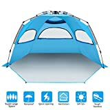 BATTOP 4 Person Instant Beach Tent Sun Shelter for Family - Easy Set Up Sun Shade Outdoor