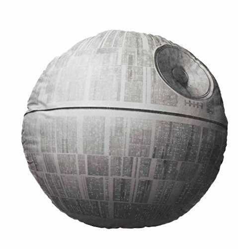 Star Wars Cojín Estrella de La Muerte, Acrílico, Gris, 45 x 45 x 8 cm