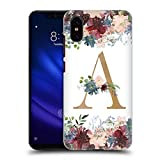 Head Case Designs Oficial Nature Magick Letra A Flores Monograma Floral Oro Carcasa rígida Compatible con Xiaomi Mi 8 Pro